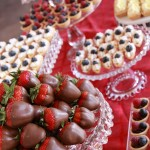 Chocolate Covered Strawberries and Seasonal Fruit Tarts