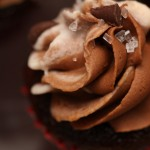 Chocolate Cupcake with White Chocolate and Milk Chocolate Buttercream Swirl