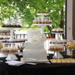 Wedding Cake and Assortment Dessert Table