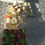 Tinted French Macaroons, Cupcakes and Petit Fours