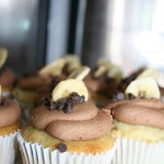 Banana Cupcake filled with rich Banana Cream and frosted with Milk Chocolate Buttercream Frosting